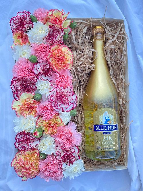 מארז חגיגי גדול עם יין בלו נאן