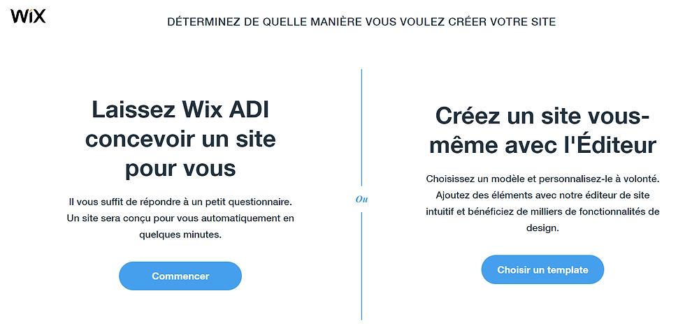 Créer son site web avec l'éditeur Wix