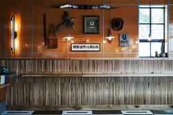 Custom White Oak 'basket weave' wainscot