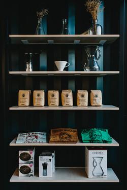 Custom Painted Shelves with Custom Shelf