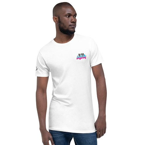 Vibes Long tail tee white