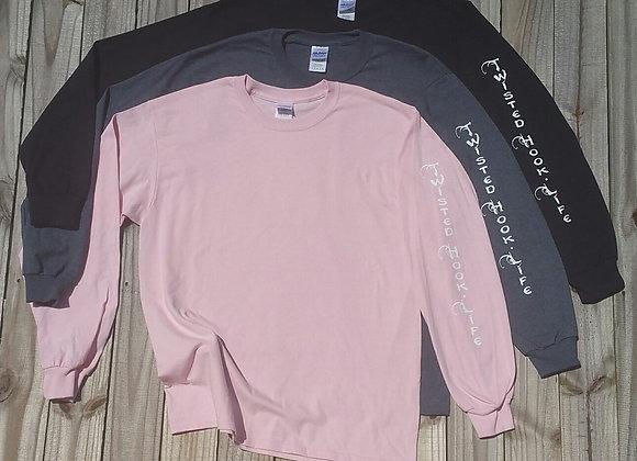 Twisted Hook Long Sleeve T-Shirt 2 location print
