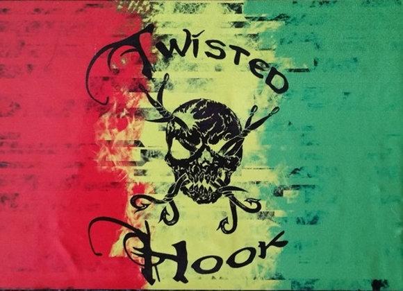 Twisted Hook Rasta Decal