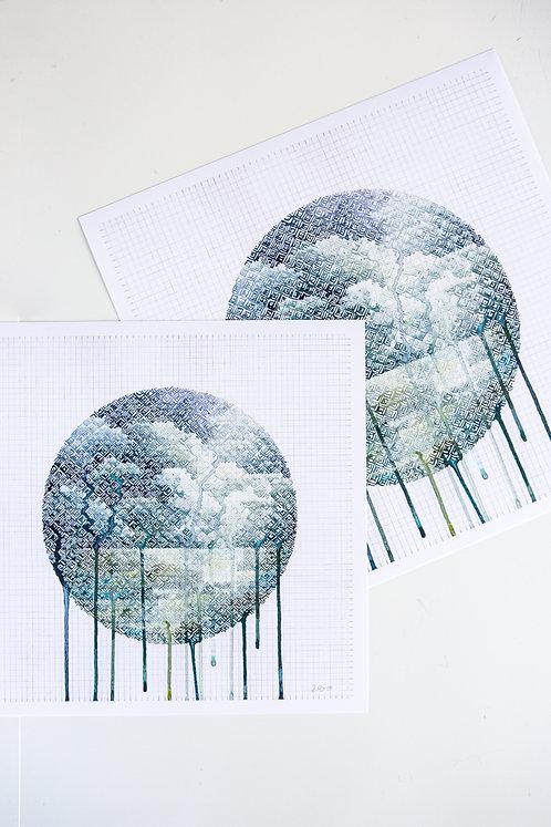 """""""Summer Storm Color Study"""" Print"""