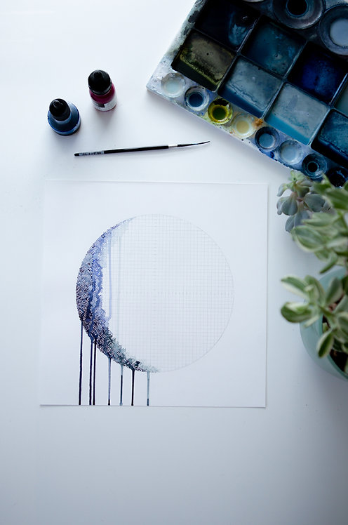 """""""Lunar Phase No. 4 Waxing Gibbous"""""""