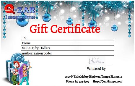 qzar gift certificates