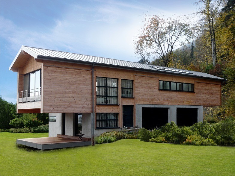 teamdesign construction bois béton maison individuelle architecture