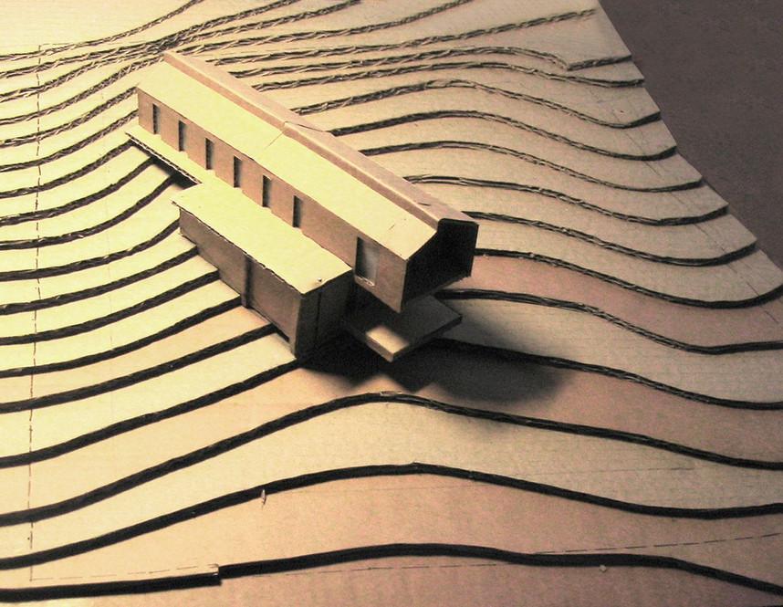 teamdesign construction bois béton maison individuelle architecture maquette carton