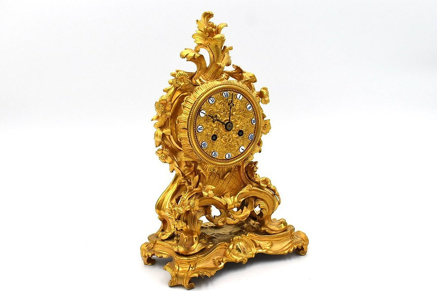 French Gilt Boudoir Clock