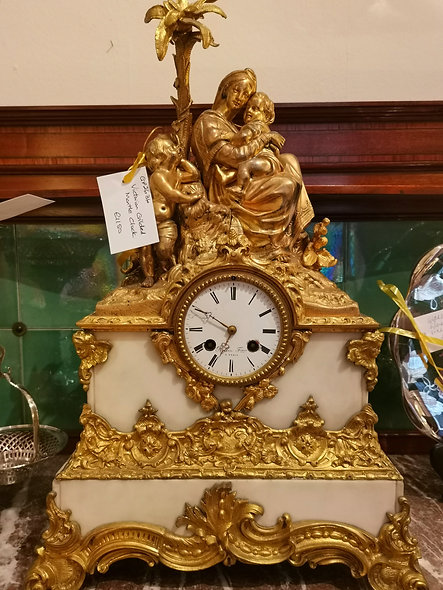 Victorian Gilded Mantle Clock