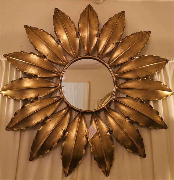 Metal Leaf Mirror