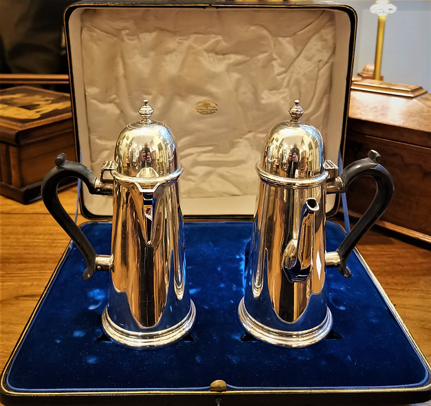 Victorian London Silver Coffee Set