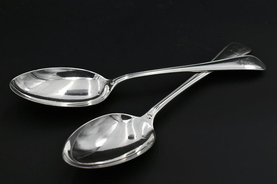 Pair Silver Spoons
