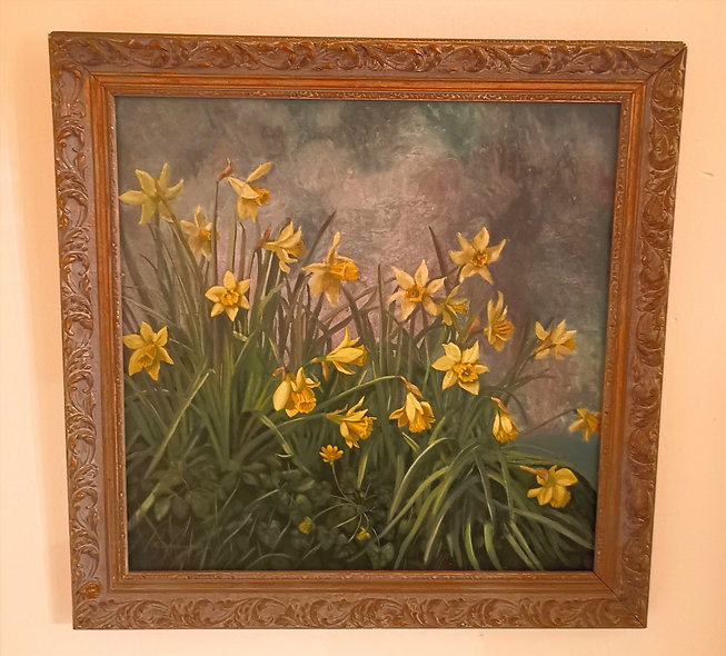 Daffodil Painting (Signed)