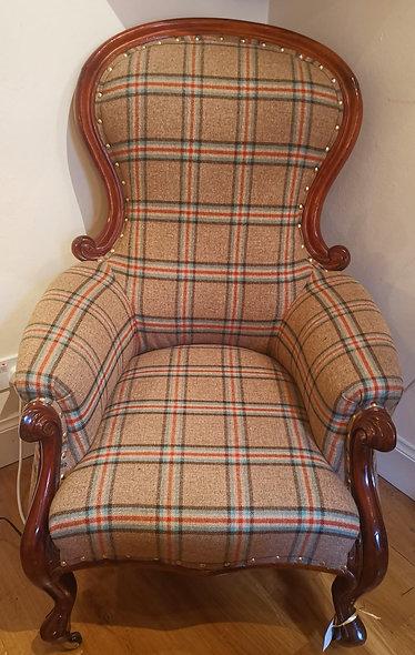 Mahogany Upholstered Chair