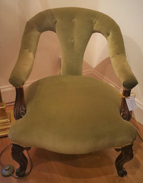 Velvet Parlour Chair
