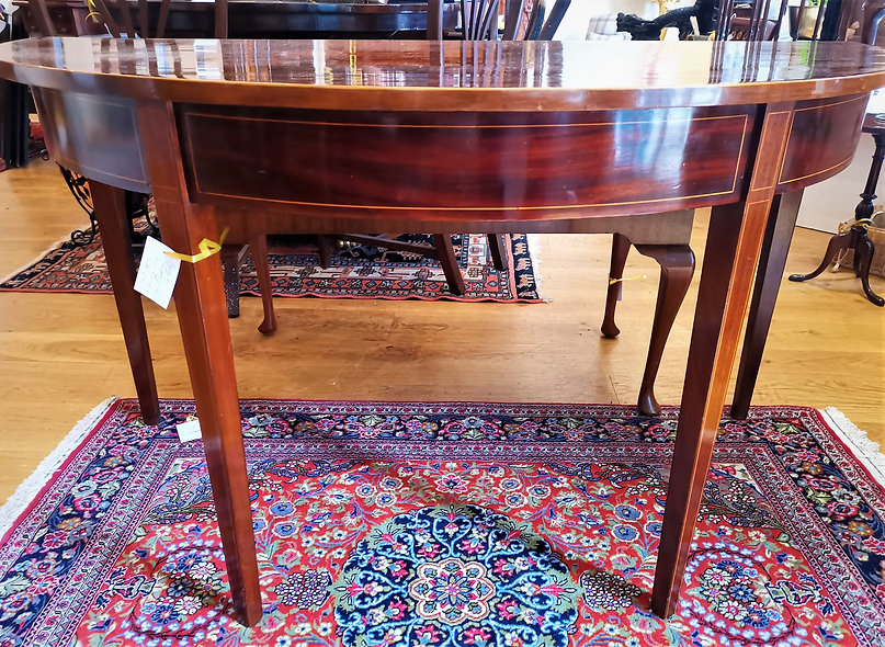 Mahogany Demi-Lune Table