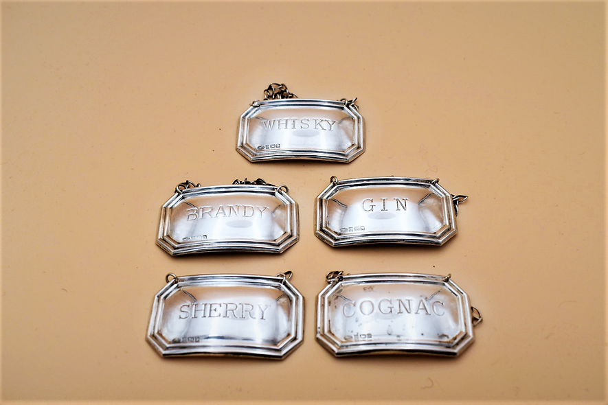 Silver Decanter Tags