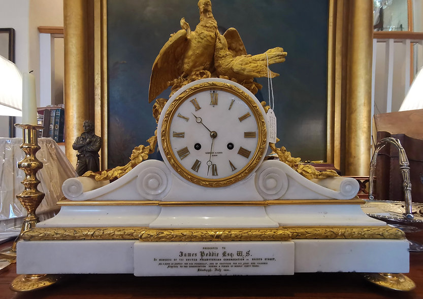 Gilt & Marble Mantle Clock