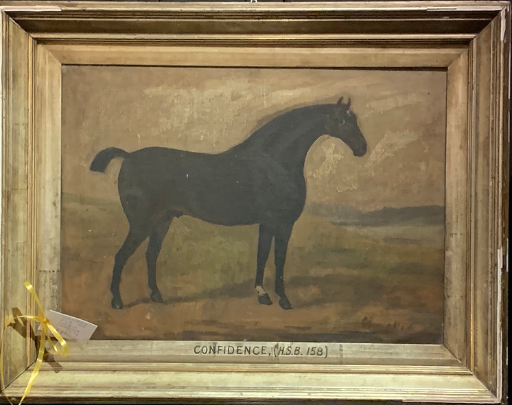 Oil Painting of Racehorse