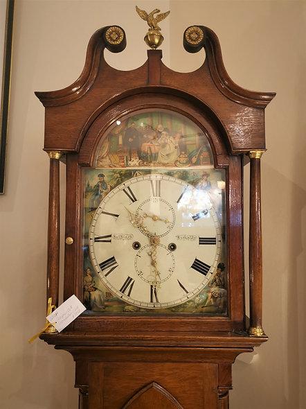 Georgian Oak Grandfather Clock
