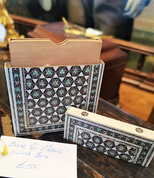Bone & Mosaic Card Holder (x2)