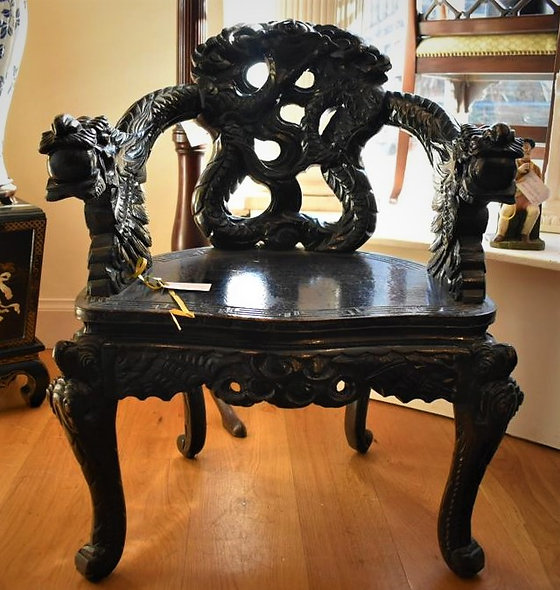 Chinese Ebonised Chair