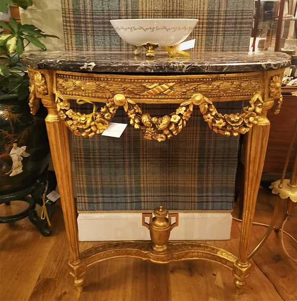 Marble & Gilt Console Table