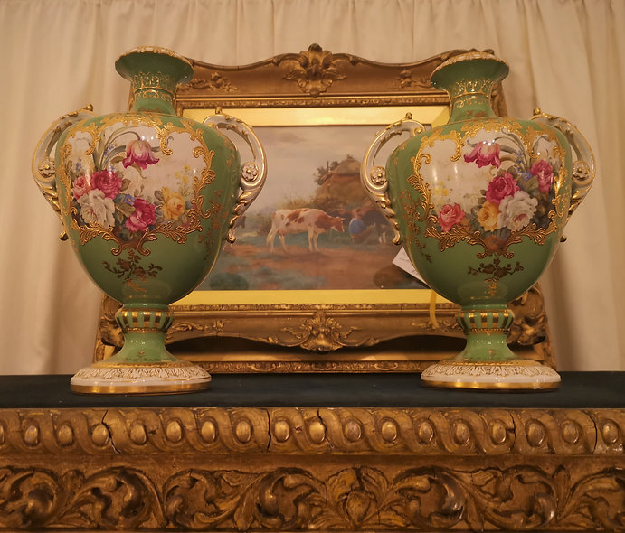 Pair of Royal Bonn Vases