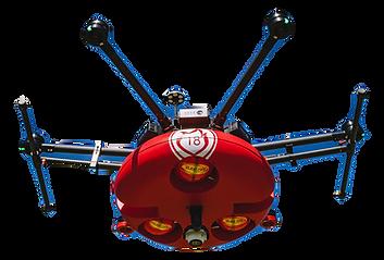 drone pompier boule elide fire