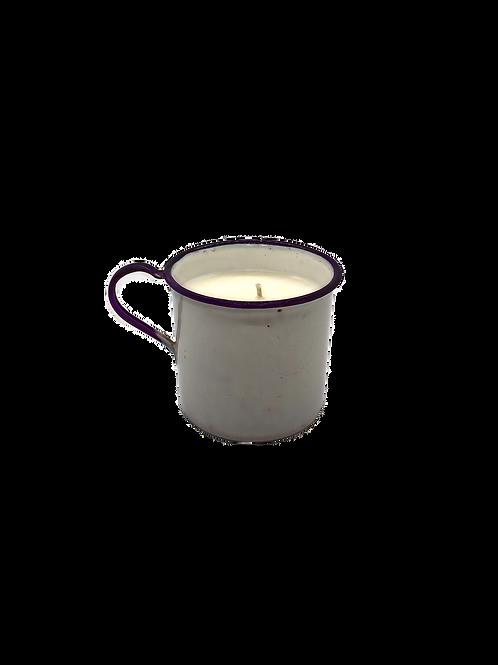 Vintage Childs Enamel Mug Soy Candle | Cedar + Cypress
