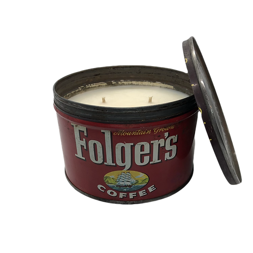 Vintage Folgers Coffee Can | Douglas Fir Forest