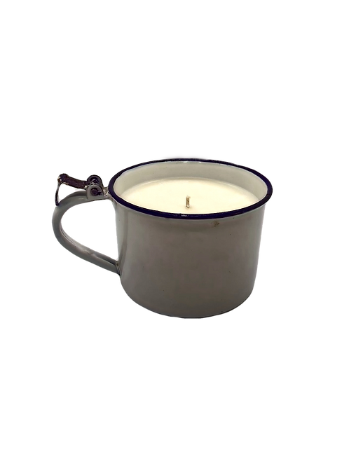 Vintage Enamel Cup Soy Candle | Fig + Thyme