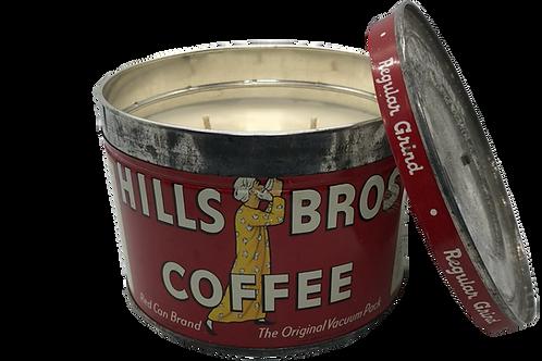 Vintage Hills Bros Coffee Can | Oakmoss + Lavender
