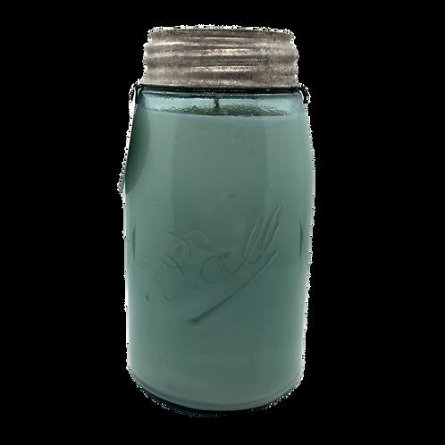 Vintage Ball Mason Jar Soy Candle | Oakmoss + Lavender