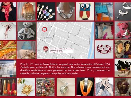Salon De Créateurs Art'Avie – La Varenne Déc. 2019
