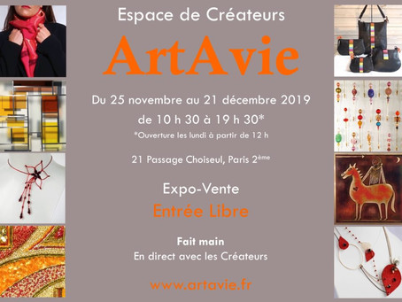 Salon De Créateurs Art'Avie – Paris Nov. 2019