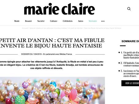 Marie Claire titre : C'est Ma Fibule Réinvente Le Bijou Haute Fantaisie