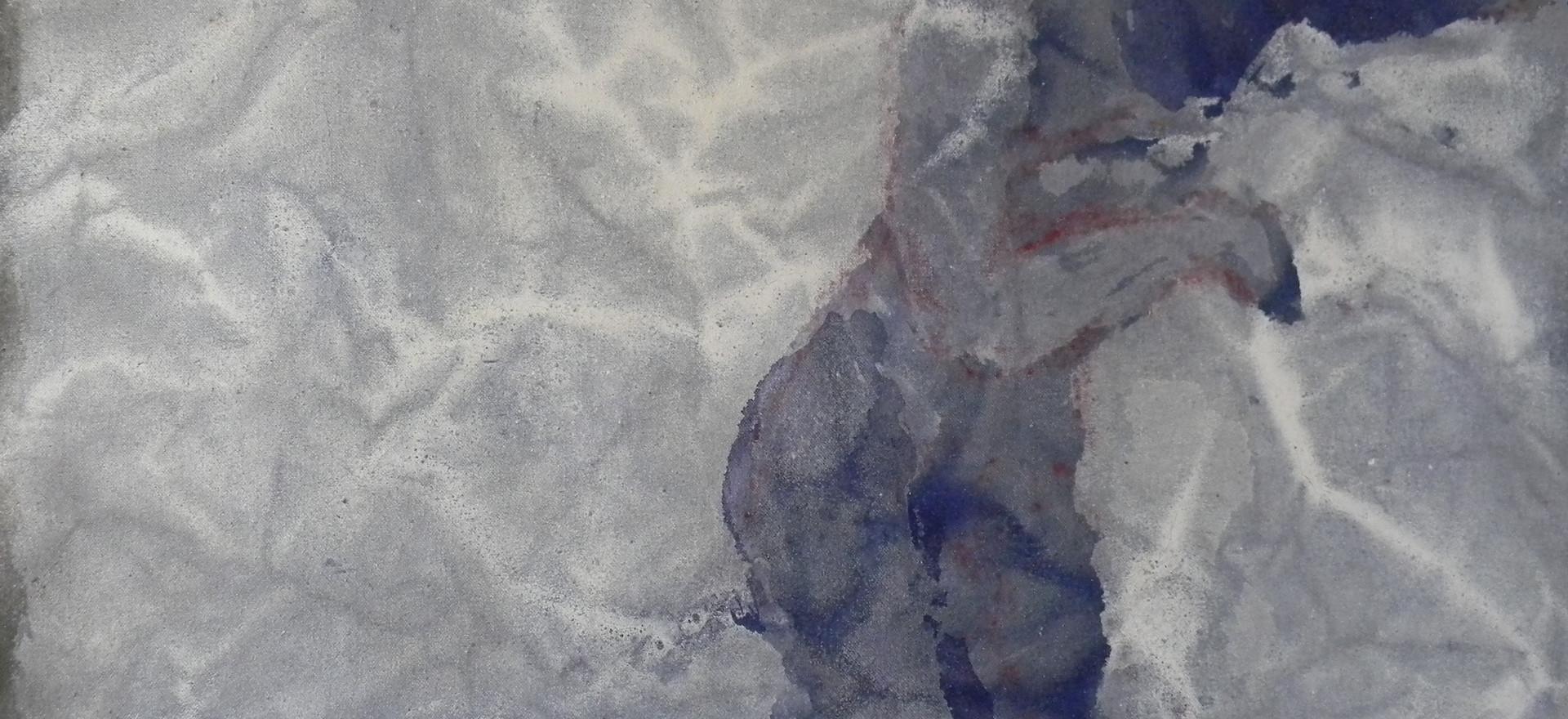 plis, acrylique sur toile