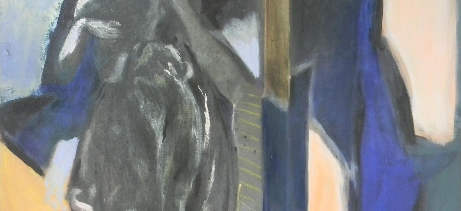 énonciation, acrylique sur toile