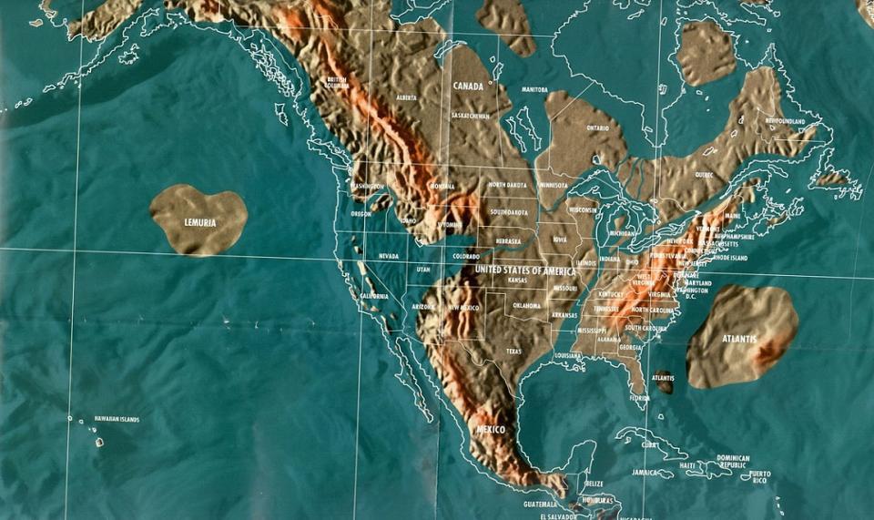 Future map of North America by Gordon-Michael Scallion