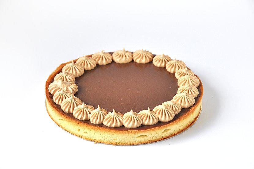 טארט שוקולד-קרמל