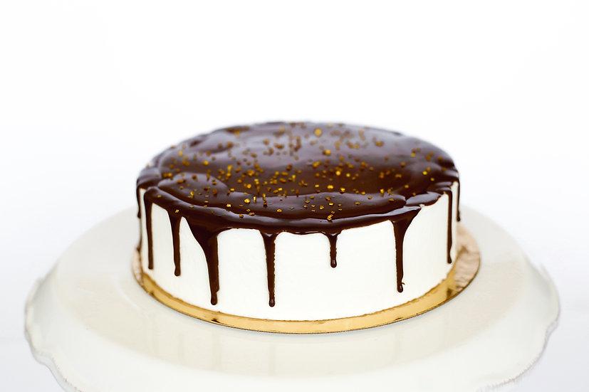 עוגת מוס גבינה ושוקולד- קטנה
