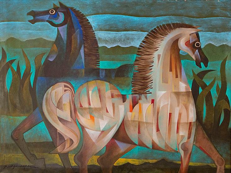 "Two Horses - Francisco ""Paco"" Gorospe"