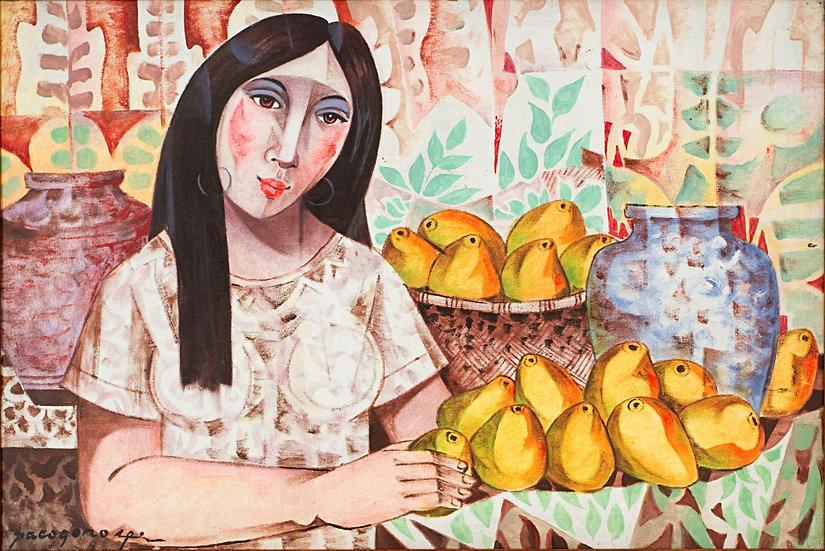 "Lady with mangos - Francisco ""Paco"" Gorospe"