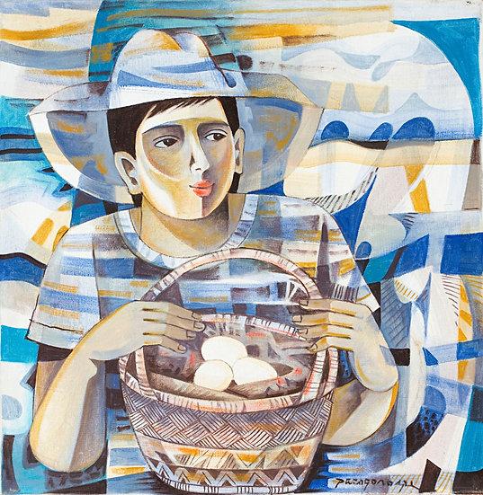 "Man with eggs - Francisco ""Paco"" Gorospe"