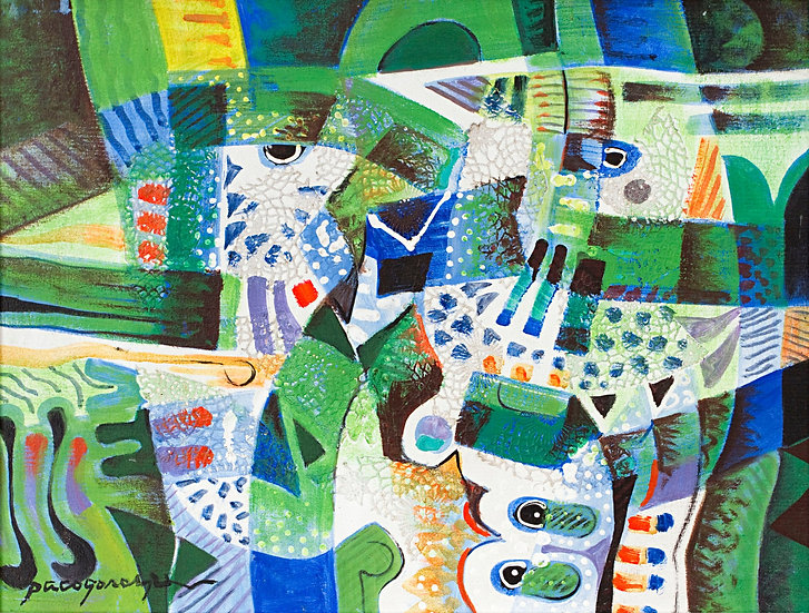 "Green Composition IV - Francisco ""Paco"" Gorospe"