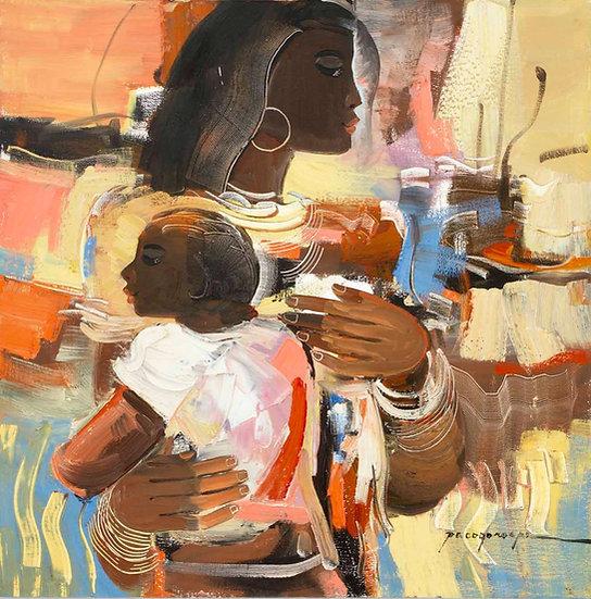 "Fisherwomen and child - Francisco ""Paco"" Gorospe"