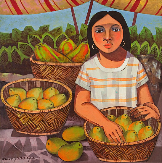 "Girl with papaya - Francisco ""Paco"" Gorospe"