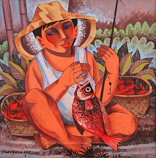 "Sitting Fisherman - Francisco ""Paco"" Gorospe"